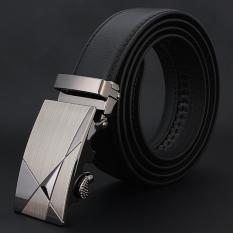 Men Genuine Leather Belt Luxury Black Hot Brand Business Men Belt Leather Auto Buckle Waistband