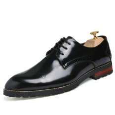 Men Genuine Leather Shoes Formal Business Leather Shoes Low Cut - Intl