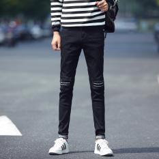 Men Korea Style Slim Jeans Pants - Intl