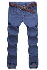 Men Korean Slim Jeans (Blue)