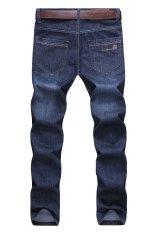 Men Korean Slim Jeans (Dark Blue)
