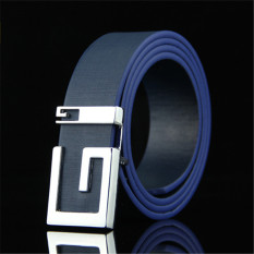 Men Korean Style G Letter Belt MBT885103-4 Blue