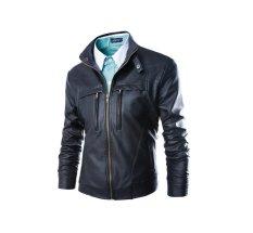 Men Leather Jackets and Coats Biker Motorcycle PU Veste Cuir Homme Soft Zipper Leather Jaquetas De Couro Black