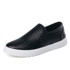 Men / S 2016 New Fashion Comfortable Slip-Ons Flats Shoes Breathable Casual Sneakers Shoes (Black)