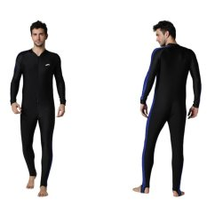 Men Scuba Snorkeling Swim Lycra Skin Full Suit Wetsuit Modest Swimwear-blue - intl