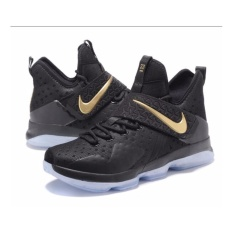 Men Sneakers For Lebron 14 Basketball Shoes(black/golden) - intl