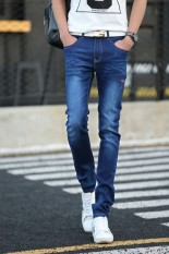 Men Stretchy Slim Jeans Pants - Intl