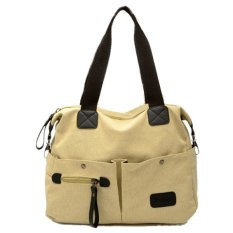 Men Women Pillow Vintage Canvas Bag Shoulder Messenger Handbag Khaki