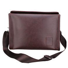 Men's Briefcase Casual Business Leather Shoulder Bag Men Messenger Handbag Bag Coffee - Intl
