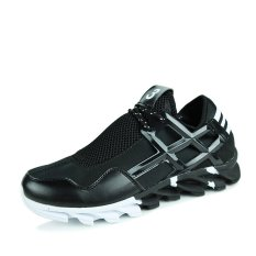 Mens Casual Sports Shoes Comfortable Skater Shoes (Black) (Intl)