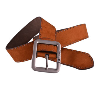Mens Casual Waistband Leather Automatic Buckle Belt Waist Strap Beltss Brown