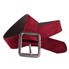 Mens Casual Waistband Leather Automatic Buckle Belt Waist Strap Beltss Red