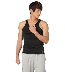 Men's Compression Sleeveless Shirts Tight Sports Thermal Athletic Top Base Layer (Black)