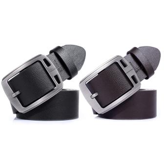 Men's Fashion Leather Belt Pin Buckle Belt - Intl