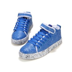 Men's Fashion Sneakers with High Cut (Blue) (Intl)