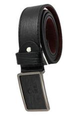 Men's Fashion Waist Belt Business Pin Buckle Belt Black (Intl)