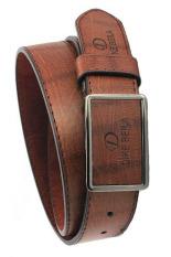 Men's Fashion Waist Belt Business Pin Buckle Belt Brown (Intl)