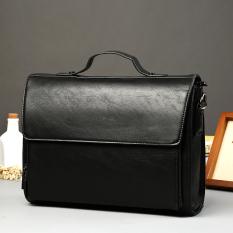 Men's Handbag Business Bag Crossbody Bag Portable Bag Horizontal Single Shoulder Bag Men Business Briefcase Men Bag-Black