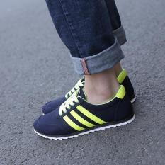 Men's Round Trend Of Korean Men Shoes Lace Up A Low Help Recreational Shoe - Intl