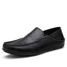Mens Shoes Loafers Soft Genuine Leather Skid Resistance Casual Slip-on Footwear Easy To Wear Male Leisure Shoe For Man (Intl)