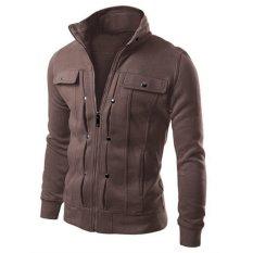 Mens Slim Jacket Outerwear (Brown)