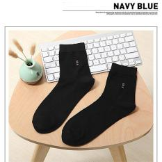 Men's Socks Classic Business Brand Socks Men's High Quality Cotton Casual Socks (Black) - Intl