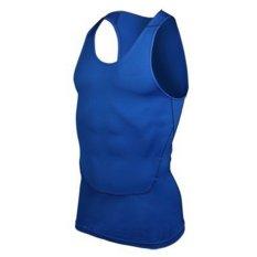 Men's Sports Vest T-Shirt Undershirt Fitness Athletic Tank Blue (Intl)