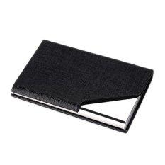 Mens Stainless Steel Pocket Credit ID Card Mini Wallet Holder Pocket Case Box Black - intl
