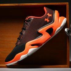Men's Tennis Shoes Professional Non-slip Light Badminton Shoes Indoor Sneakers (Black Orange) - Intl - intl