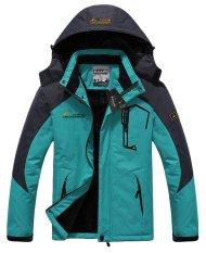 Men's Waterproof Ski Jackets Fleece Windproof Sportswear Sky Blue XXXL (Intl)