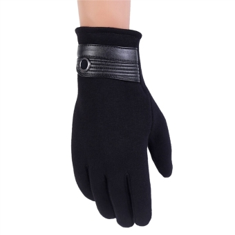 Men's Winter Windproof Touchscreen Gloves for Smart Phone &Tablet (Black) - intl