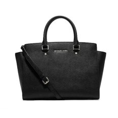 Michael Kors Women Leather Black 30S3GLMS7L - Hitam