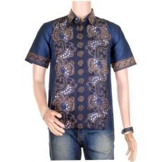 Mila Style Baju Kemeja Batik Varian Hem Sabrina Size upto Jumbo - Multicolor