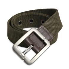 Military Style Unisex Single Grommet Adjustable Canvas Belt Web Belt Woven Belt Army Green 115cm - Intl