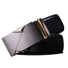 2015 New Fashion Mens Automatic Buckle Waistband Leather Belt (Intl)