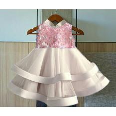 MJ Dress Anak Swans Kids - Peach