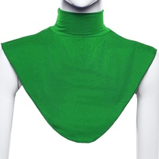 Modal Moslem Hijab Islamic Turtleneck Neck Cover Collar Fake collar Shirt Cover Muslim Wear Green - intl