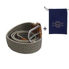 Modeway Trend Elasticity Woven Elastic Belt Strap Belts For Men Women Boys Girls Students R001-3 - Intl