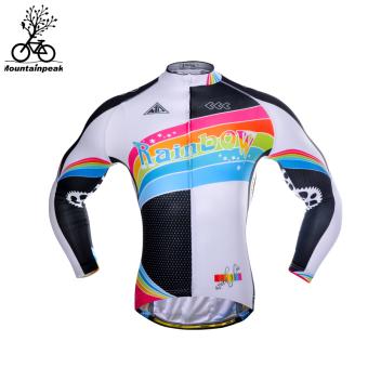Mountainpeak pria lengan panjang sepeda gunung sepeda kemeja naik pakaian (Rainbow lengan panjang 2 generasi