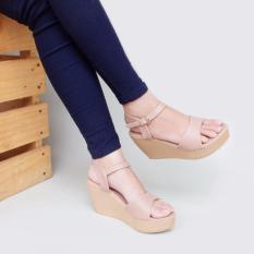 Moya Sepatu Wanita Wedges Ankle Strap CY07 - Mocca