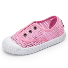 MSHOES Girl's Casual Walking Shoes Breathable Hollow Mesh Sneakers Shoes (Pink) - intl