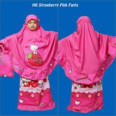 Mukena Anak HK Strawberry Pink Fanta Lucu
