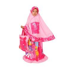 Mukena Anak Muslimah Freinds Pink