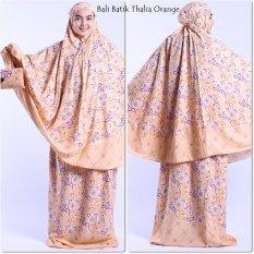 Mukena Bali Batik Thalia Orange Murah Meriah
