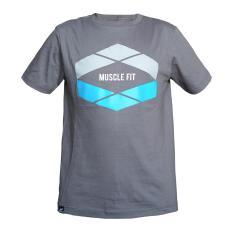 Muscle Fit Kaos Oblong Lengan Pendek Unisex O-Neck T-Shirt MF-D7 Prisma MF - Abu
