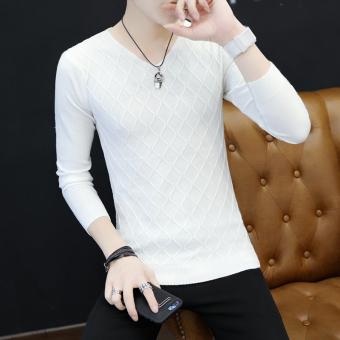 Musim Gugur Dan Musim Dingin Korea Fashion Style Tambah Beludru Laki-laki Lengan Panjang Atasan