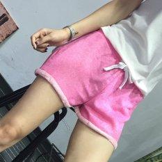 Musim Panas Busana Wanita Tunik Tali Pinggang Elastis Manper Setel Kasual Elegan Di Saku Celana Pendek Olahraga Lari Pantai