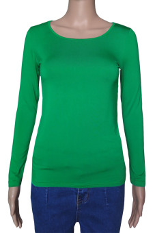 Muslim Long Sleeve Half-length T shirt for Women (Green) (Intl)