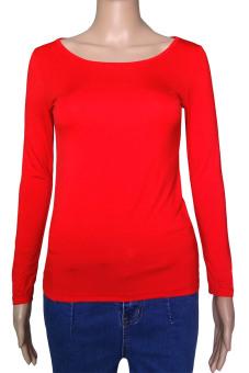 Muslim Long Sleeve Half-length T shirt for Women (Red) (Intl)