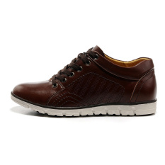 MX0928 Genuine Leather Height Increasing Elevator Oxfords Men's Fashion Business Flat Shoes Elevated 5cm Color Brown (Intl)